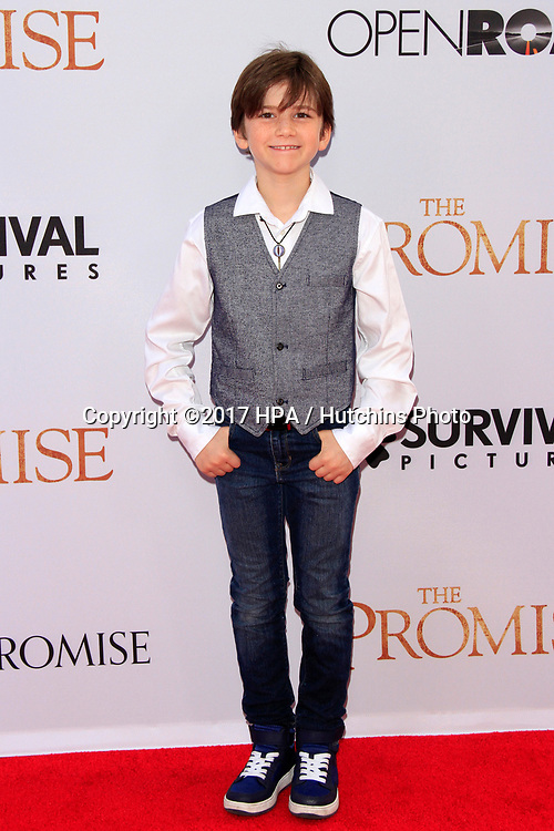 """LOS ANGELES - APR 12:  Alexander James Rodriguez at the """"The Promise"""" Premiere at the TCL Chinese Theater IMAX on April 12, 2017 in Los Angeles, CA"""