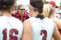 STANFORD, CA - September 19, 2010:  Volunteer Assistant Coach Caitlin McCurdy during the Stanford Field Hockey game against Cal in Stanford, California. Stanford lost 2-1.