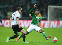 USSBALL   1. BUNDESLIGA    SAISON 2012/2013    10. Spieltag   Werder Bremen - FSV Mainz 05                             04.11.2012 Eljero Elia (re, SV Werder Bremen) gegen Zdenek Pospech (1. FSV Mainz 05)