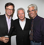 Jim Caruso, Stephen Sorokoff and Director Steve Bakunas at The Red Barn Studio Theatre Off-Broadway production of 'Positions' at the Roy Arias Studio Theatre on October 10, 2012 in New York City.