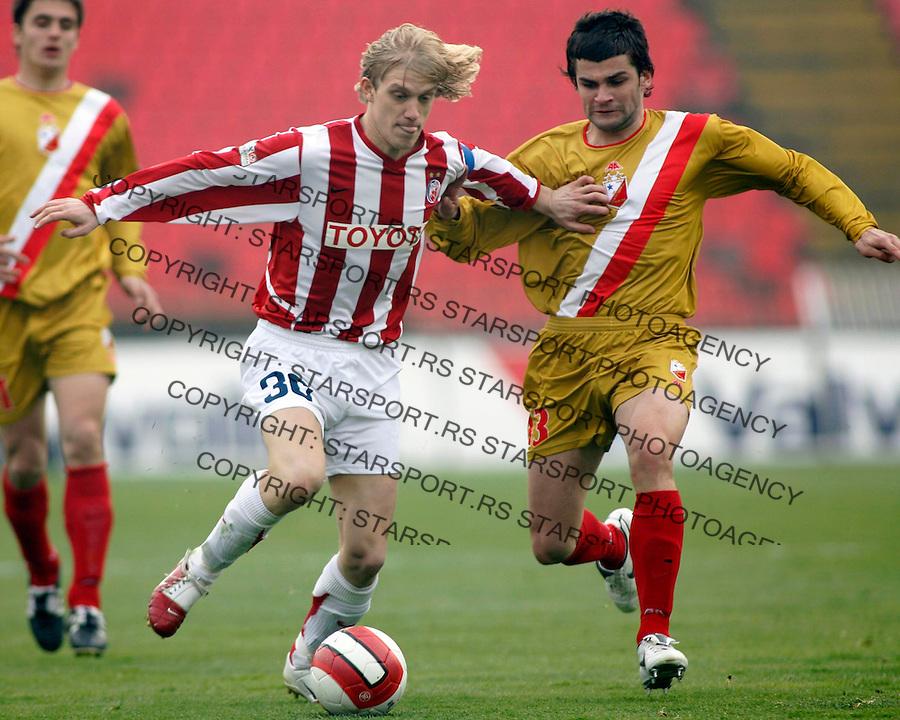 Fudbal, Super league, season 2006/07<br /> Crvena ZVezda Vs. Vojvodina<br /> Dusan Basta, left and Aleksandar Popovic<br /> Beograd, 10.03.2007.<br /> fotoL Srdjan Stevanovic