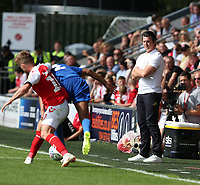 Fleetwood Town manager Joey Barton watches from the dugout<br /> <br /> Photographer Stephen White/CameraSport<br /> <br /> The EFL Sky Bet League One - Fleetwood Town v AFC Wimbledon - Saturday 4th August 2018 - Highbury Stadium - Fleetwood<br /> <br /> World Copyright &copy; 2018 CameraSport. All rights reserved. 43 Linden Ave. Countesthorpe. Leicester. England. LE8 5PG - Tel: +44 (0) 116 277 4147 - admin@camerasport.com - www.camerasport.com