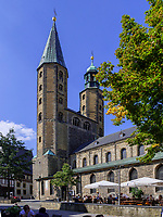 Marktkirche St. Cosmas und Damian, Goslar, Niedersachsen, Deutschland, Europa, UNESCO-Weltkulturerbe<br /> Market Church Cosmas and Damian, Goslar, Lower Saxony,, Germany, Europe, UNESCO Heritage Site