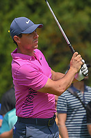 Rory McIlroy (NIR) watches his tee shot on 4 during 2nd round of the World Golf Championships - Bridgestone Invitational, at the Firestone Country Club, Akron, Ohio. 8/3/2018.<br /> Picture: Golffile | Ken Murray<br /> <br /> <br /> All photo usage must carry mandatory copyright credit (© Golffile | Ken Murray)