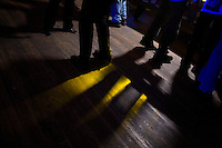 People dance at Casey's Bar in downtown Whitefish, Montana, USA.
