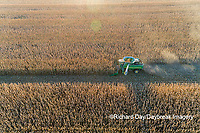 63801-12717 Harvesting corn in fall-aerial  Marion Co. IL