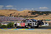Jun. 21, 2009; Sonoma, CA, USA; NASCAR Sprint Cup Series driver Boris Said during the SaveMart 350 at Infineon Raceway. Mandatory Credit: Mark J. Rebilas-