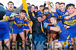 St Senans celebrate after winning the North Kerry Championship for the first time in their history.