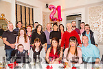 Larine Hobbert, Causeway celebrating her 21st birthday with family and Friends at  Finnegans Restaurant on Saturday