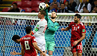 KAZAN - RUSIA, 20-06-2018: David DE GEA arquero de España en acción durante partido de la primera fase, Grupo B, entre RI de Irán y España por la Copa Mundial de la FIFA Rusia 2018 jugado en el estadio Kazan Arena en Kazán, Rusia. / David DE GEA, goalkeeper of Spain, in action during the match between IR Iran and Spain of the first phase, Group B, for the FIFA World Cup Russia 2018 played at Kazan Arena stadium in Kazan, Russia. Photo: VizzorImage / Julian Medina / Cont