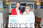 Nora O'Mahoney (Chairperson of the Strand Road Whist Drive) presentin a cheque of €400.00 Maura Sullivan,  Treasurer of Kerry Hospice UHK on Thursday night in Kerins O'Rahillys Clubhouse.