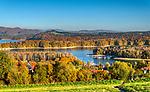 Polańczyk. 2018-10-13. Jesienna panorama Polańczyka.