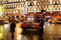San Pietroburgo: Nevsky Prospekt di notte