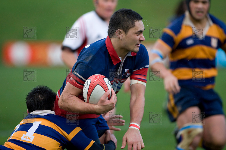 Larelle Underhill. CMRFU Counties Power 2008 Club rugby McNamara Cup Premier final between Ardmore Marist & Patumahoe played at Growers Stadium, Pukekohe on July 26th.  Ardmore Marist won 9 - 8.