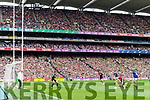 Stephen O'Brien Kerry takes a shot on goal against Mayo in the All Ireland Semi Final Replay in Croke Park on Saturday.
