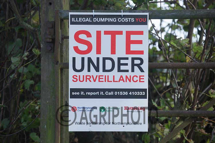 Site under surveillance sign<br /> Picture Tim Scrivener 07850 303986<br /> &hellip;.covering agriculture in the UK&hellip;.