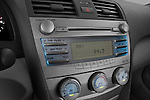 Stereo audio system close up detail view of a 2010 Toyota Camry LE