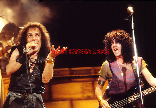 Dio 1984 Ronnie James Dio and Jimmy Bain.© Chris Walter.