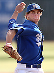 Western Nevada's Christian Stolo pitches in a college baseball game against Colorado Northwestern in Carson City, Nev., on Sunday, March 10, 2013. WNC swept the weekend series 4-0..Photo by Cathleen Allison/Nevada Photo Source