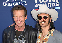 LAS VEGAS, NEVADA - APRIL 07: Dennis quaid and Jess Carson of Midland attends the 54th Academy Of Country Music Awards at MGM Grand Hotel &amp; Casino on April 07, 2019 in Las Vegas, Nevada. <br /> CAP/MPIIS<br /> &copy;MPIIS/Capital Pictures