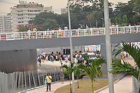 RIO DE JANEIRO, RJ, 25 MAIO 2012 - INAUGURACAO MERGULHAO DE CAMPINHO - Mergulhão de Campinho, conhecido como Mergulhão Clara Nunes, e o Viaduto Negrão de Lima, que fazem parte do Transcarioca, que vai ligar a Barra da Tijuca ao aeroporto Tom Jobim, com 39 km de extensão, foi inaugurada nessa tarde com a presença do prefeito Eduardo Paes. FOTO: ARION MARINHO - BRAZIL PHOTO PRESS.