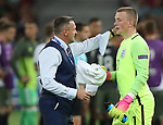 England's Aidy Boothroyd and Jordan Pickford look on dejected after losing on penalties during the UEFA Under 21 Semi Final at the Stadion Miejski Tychy in Tychy. Picture date 27th June 2017. Picture credit should read: David Klein/Sportimage