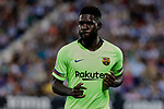 FC Barcelona's Samuel Umtiti during La Liga match between CD Leganes and FC Barcelona at Butarque Stadium in Madrid, Spain. September 26, 2018. (ALTERPHOTOS/A. Perez Meca)