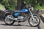 A 1978 Honda CB400 T, twin cylinder 400cc Japanese motorbike.