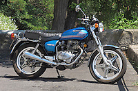 A 1978 Honda CB400 T, twin cylinder 400cc Japanese motorbike.