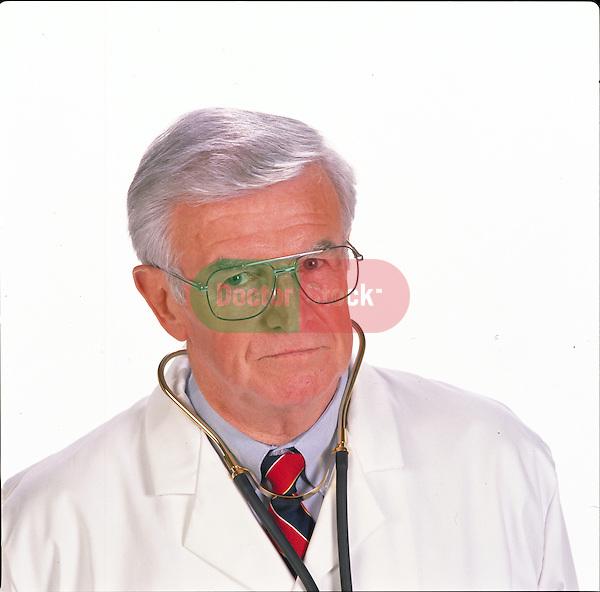 portrait of elder doctor with stern look