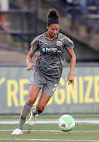Estelle Johnson #24 of the Philadelphia Independence during a WPS match against the Boston Breakers at John A. Farrell Stadium on August 29 2010, in West Chester, PA. Breakers won 2-1.
