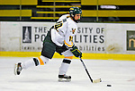 8 February 2009: University of Vermont Catamounts' defenseman Jackie Thode, a Junior from Aurora, CO, in action against the University of New Hampshire Wildcats in the second game of a weekend series at Gutterson Fieldhouse in Burlington, Vermont. The Wildcats defeated the lady Catamounts 6-2 to sweep the 2-game series. Mandatory Photo Credit: Ed Wolfstein Photo