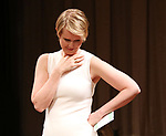 Cynthia Nixon on stage at the The Lilly Awards  at Playwrights Horizons on May 22, 2017 in New York City.
