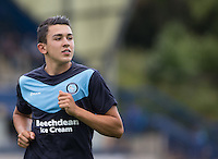 Luke O'Nien of Wycombe Wanderers during warm ups during the Sky Bet League 2 match between Wycombe Wanderers and York City at Adams Park, High Wycombe, England on 8 August 2015. Photo by Andy Rowland.