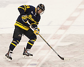 Kyle Singleton (Merrimack - 14) was unsuccessful with his penalty shot. - The Boston College Eagles defeated the visiting Merrimack College Warriors 2-1 on Wednesday, January 21, 2015, at Kelley Rink in Conte Forum in Chestnut Hill, Massachusetts.