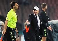 Giuseppe Iachini durante l'incontro  di calco d Seriden A  tra SSC Napoli e US Palermo    allo stadio San Paolo di Napoli , 24 Settembre  2014