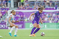 Orlando, FL - Sunday May 14, 2017: Lynn Williams, Toni Pressley during a regular season National Women's Soccer League (NWSL) match between the Orlando Pride and the North Carolina Courage at Orlando City Stadium.
