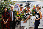 14th September 2017, Doncaster Racecourse, Doncaster, England; The William Hill St Ledger Festival, DFS Ladies Day; Ladies Days best dressed winners