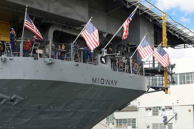 USS Midway in San Diego harbor