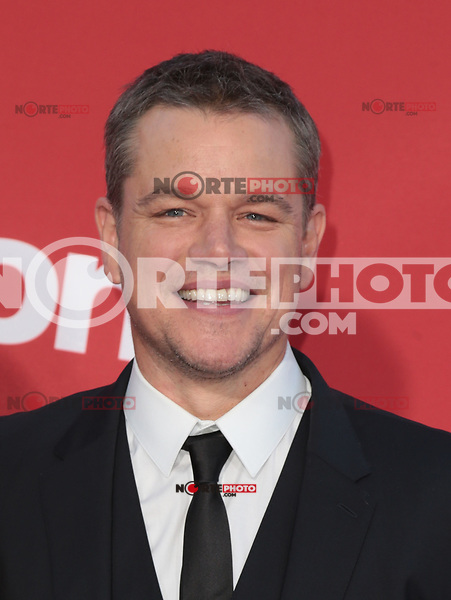 WESTWWOD, CA - October 22: Matt Damon, At The Premiere Of Paramount Pictures' 'Suburbicon' At the Village Theatre California on October 22, 2017. Photo Credit: Faye Sadou /Media Punch /NortePhoto.com