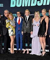 "LOS ANGELES, USA. December 11, 2019: John Lithgow, Connie Britton, Charles Randolph, Nicole Kidman, Margot Robbie & Charlize Theron at the premiere of ""Bombshell"" at the Regency Village Theatre.<br /> Picture: Paul Smith/Featureflash"