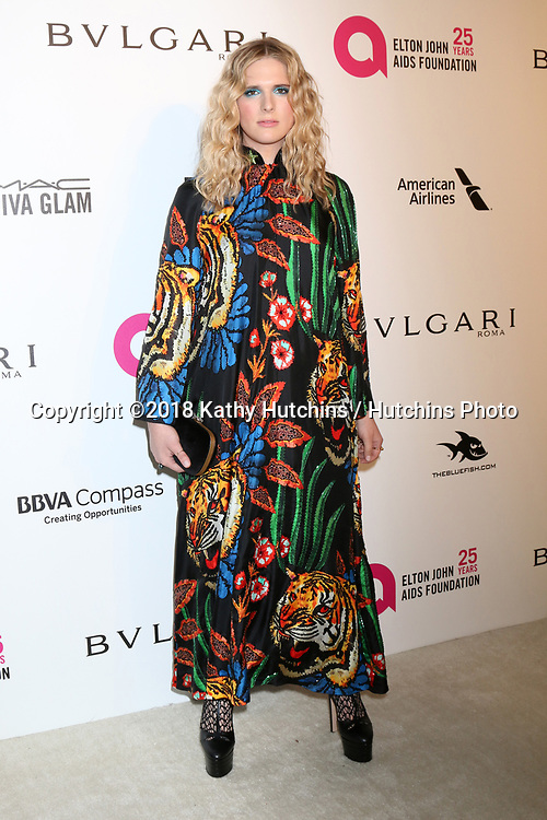 LOS ANGELES - MAR 4:  Hari Nef at the 2018 Elton John AIDS Foundation Oscar Viewing Party at the West Hollywood Park on March 4, 2018 in West Hollywood, CA
