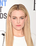 SANTA MONICA, CA - FEBRUARY 25: Actress Riley Keough  attends the 2017 Film Independent Spirit Awards at the Santa Monica Pier on February 25, 2017 in Santa Monica, California.