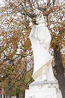 The old stone statue of Cyrano de Bergerac on a square in Bergerac. on Place de la Myrpe, facing Place du Docteur Cayla Square Bergerac Dordogne France