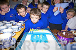 Ref Sinead..Caherdaniel NS was forty years in existence on Friday last and the honor of blowing out the birthday candles fell on Tom Clifford as the schools youngest pupil.