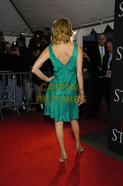 """LARA SPENCER.Columbia Pictures and Revolution Studios premiere of """"Perfect Stranger"""" at Ziegfield Theater, New York, New York, USA..April 10th, 2007.full length green dress back behind rear hand on hip.CAP/ADM/BL.©Bill Lyons/AdMedia/Capital Pictures *** Local Caption ***"""