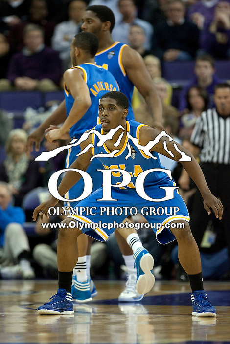 Feb 2, 2012:  UCLA's Lazeric Jones against Washington.  Washington defeated UCLA 71-69 at Alaska Airlines Arena Seattle, Washington...