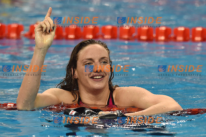 HOSSZU Katinka HUN Gold Medal World Record Women's 100m Individual Medley <br /> Doha Qatar 05-12-2014 Hamad Aquatic Centre, 12th FINA World Swimming Championships (25m). Nuoto Campionati mondiali di nuoto in vasca corta.<br /> Photo Andrea Staccioli/Deepbluemedia/Insidefoto