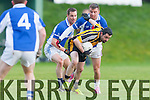 Eoin Lawlor Liebherr breaks away from the Medtronic defence during the All Ireland Inter firm final in Fossa on Friday