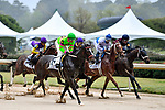 HOT SPRINGS, AR - APRIL 13:  Fantasy Stakes at Oaklawn Park on April 13, 2018 in Hot Springs, Arkansas. #6 Amy?s Challenge with jockey Mike E. Smith and #2 Harbor Lights with jockey Ricardo Santana, Jr. (Photo by Ted McClenning/Eclipse Sportswire/Getty Images)